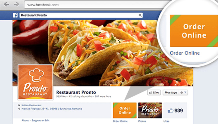 Facebook Online Food Ordering
