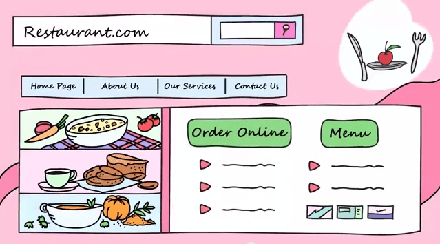 advantages of online food ordering system: seeing the menu online is easier than going to the restaurant