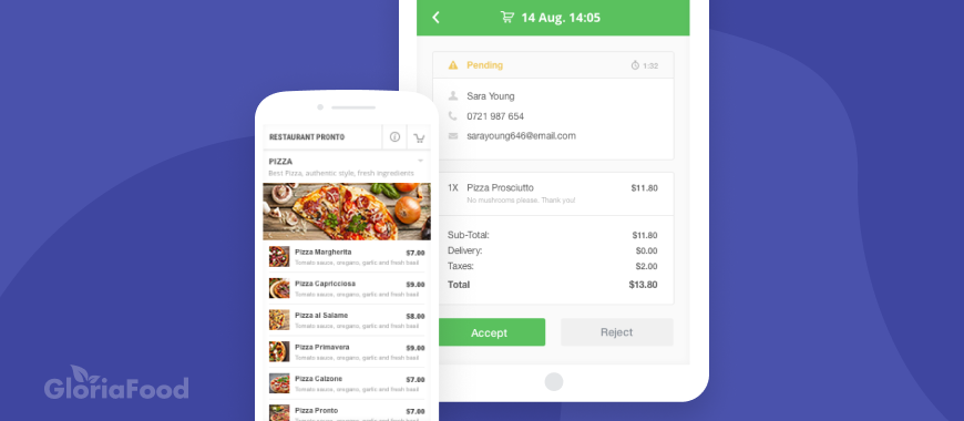 how does online food ordering system work