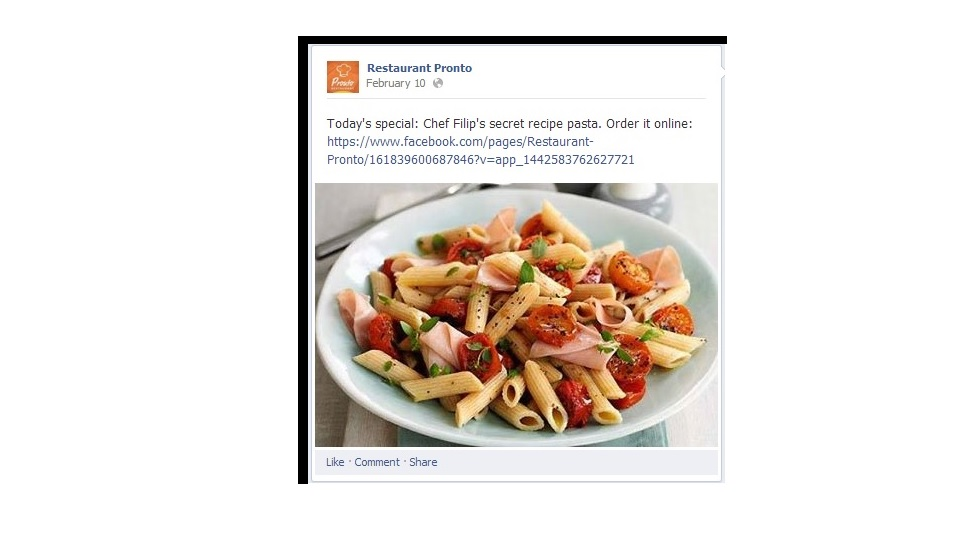 Restaurant Social Media Using Tabs In Your Facebook Page