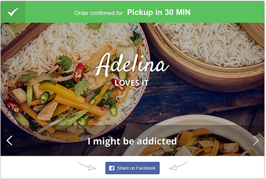 online food ordering confirmation
