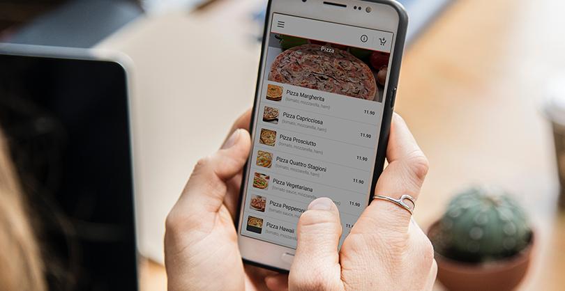 order food via branded mobile app