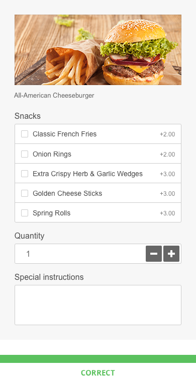 menu design tips: offer fries with burger
