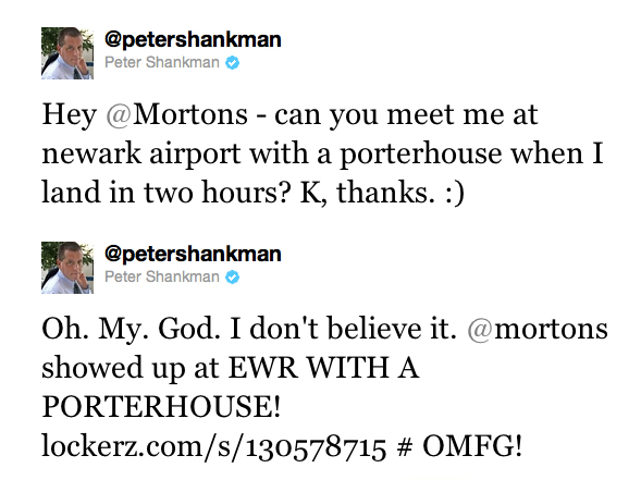 Peter Shankman's airport tweet