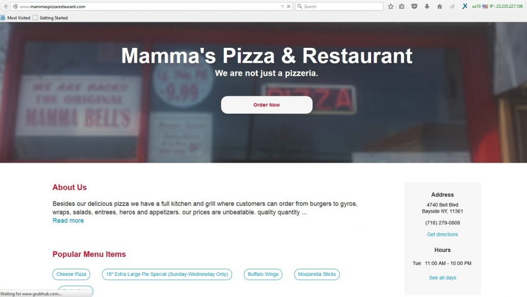 online food portals using dummy websites