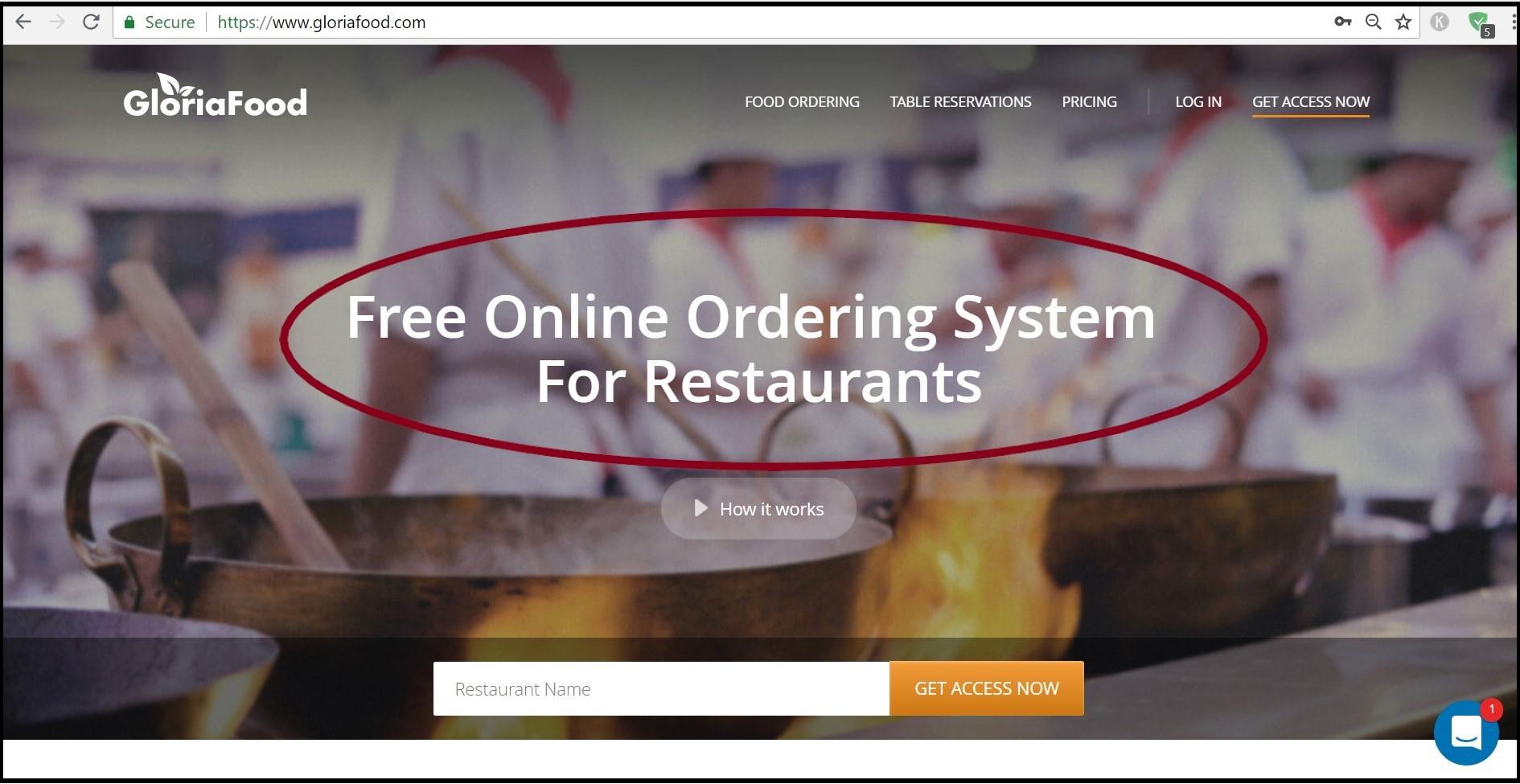 restaurant SEO tactics: have a visible headline
