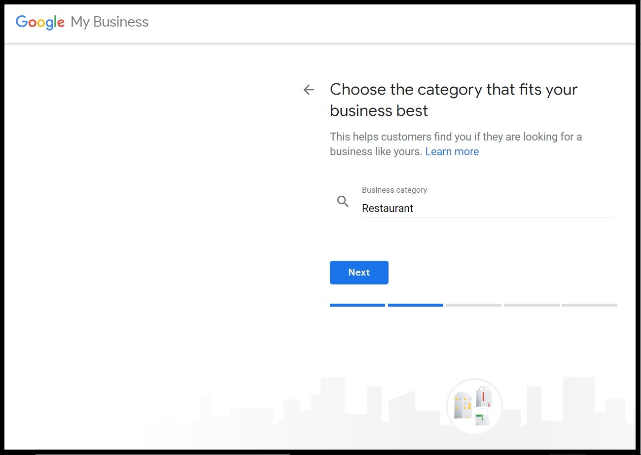 Benefits of Google My Business: choosing the category that best fits your business