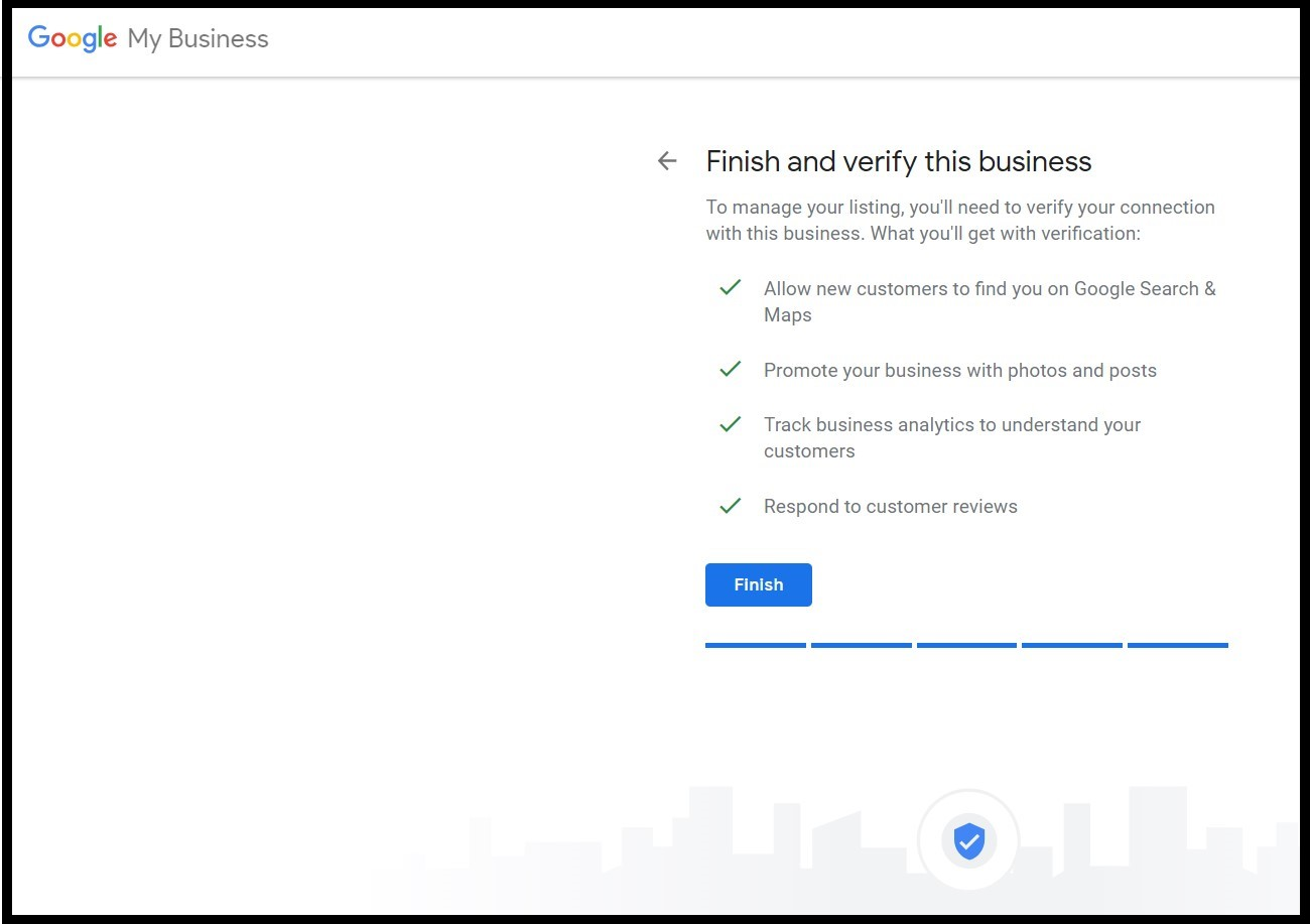 Benefits of Google My Business: Finish verifying your business
