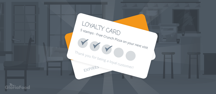 restaurant gamification tips: gamification loyalty programs examples -> stamps on reward cards