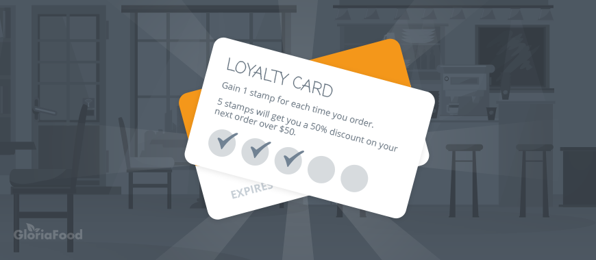 "restaurant gamification tips: ""5 stamps will get you a 50% discount on your next order over $50"""
