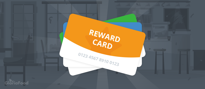 restaurant gamification tips: this is the back of a reward card