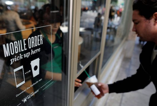 drink and food pre-order: pickup window for mobile orders