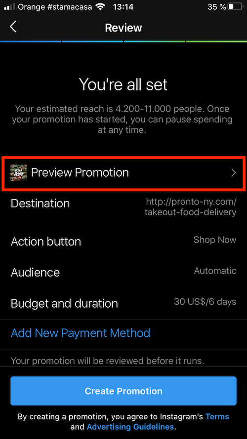 preview instagram promotion