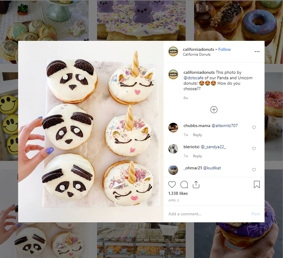 restaurant Instagram marketing: dessert captions for instagram