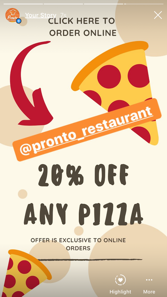 restaurant instagram marketing promotion