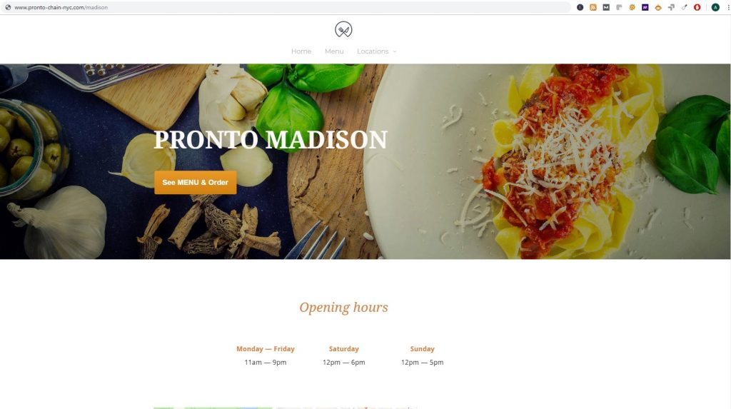 our multiple restaurant system is optimized for seo for multiple cities