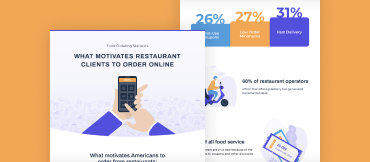 what motivates restaurant clients to order online from you
