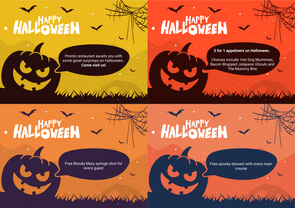 Halloween advertising flyer examples