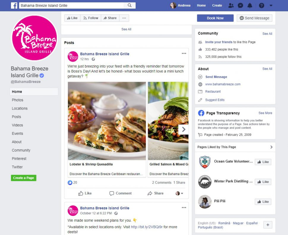 Facebook marketing for restaurants tip: use the Facebook tabs to start selling your food online or keep your customers updated about your restaurant