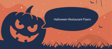 halloween restaurant flyer feature image