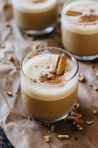 Serve Thanksgiving-Themed Drinks: maple pecan pie latte