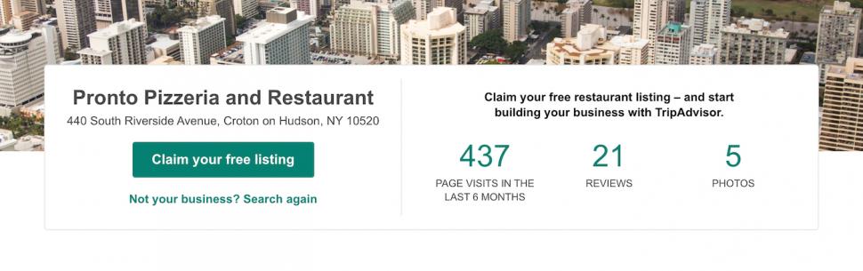 claim your free listing on tripadvisor