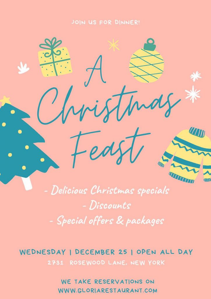 join us for christmas dinner flyer
