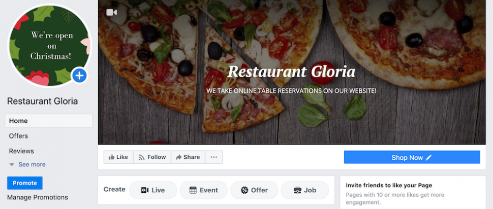 online table reservations cover photo