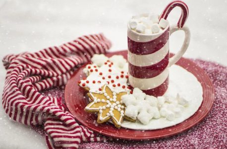 candy cane hot chocolate mug