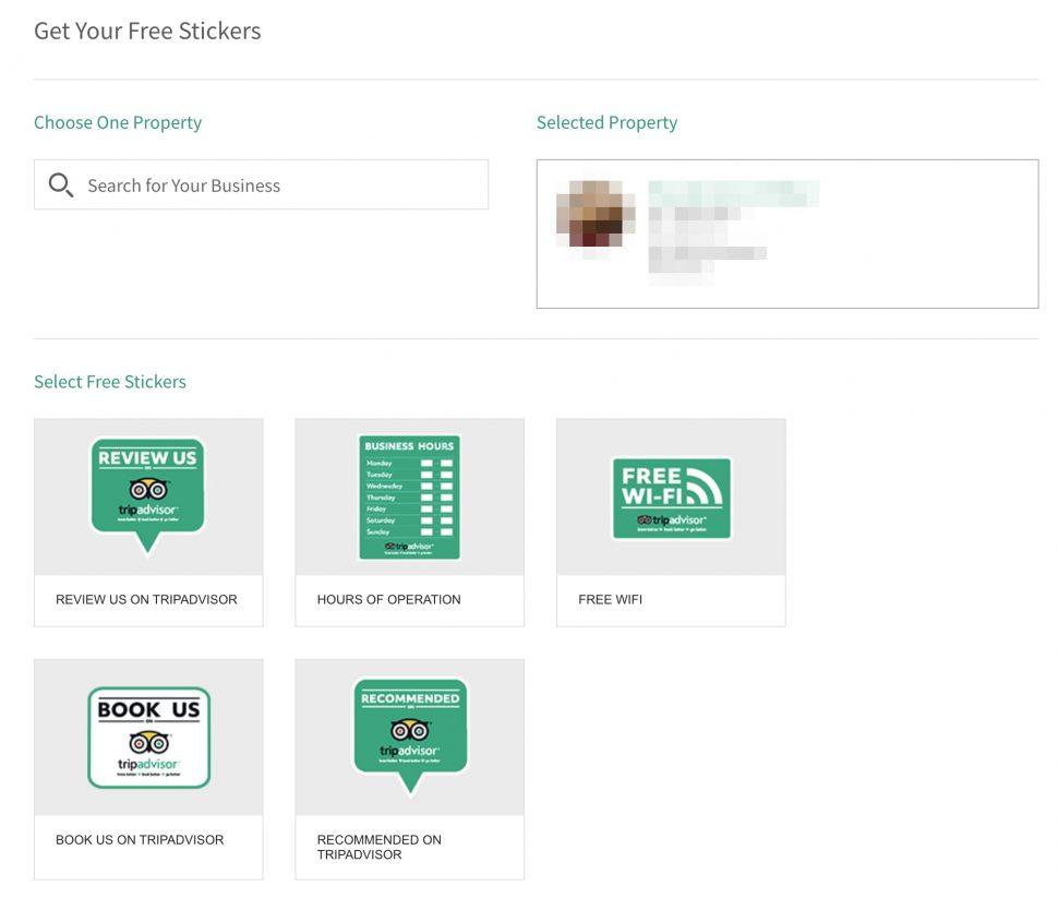 order tripadvisor restaurant sticker