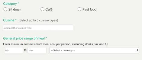 restaurant listing information tripadvisor