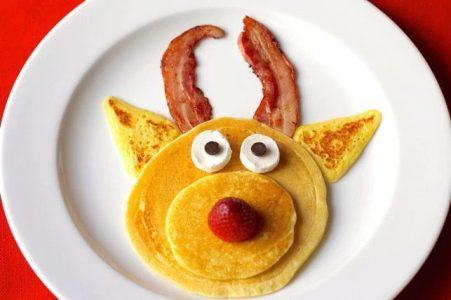 rudolph shaped pancake
