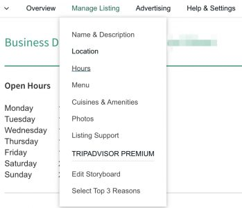 update your tripadvisor listing