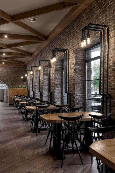 restaurant concept design: back to back tables