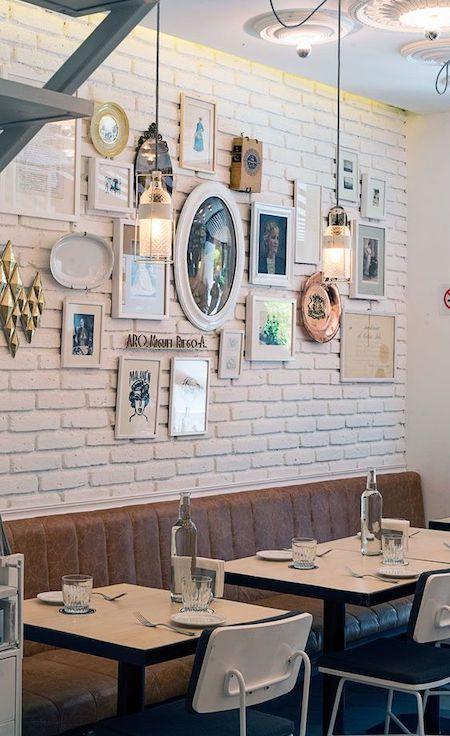 photographs as restaurant decorations