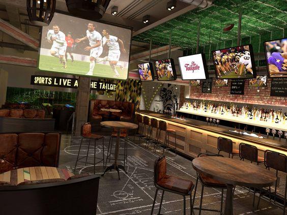 restaurant design tips for sports bar