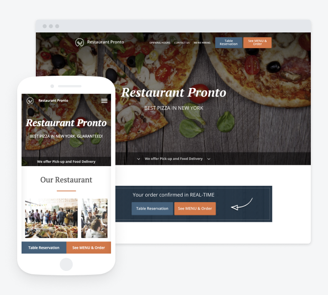 online ordering system that comes with a white label restaurant app for your students' convenience