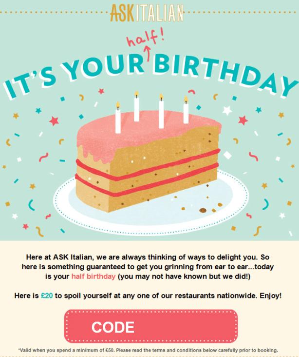 email marketing ideas for restaurants - birthdays