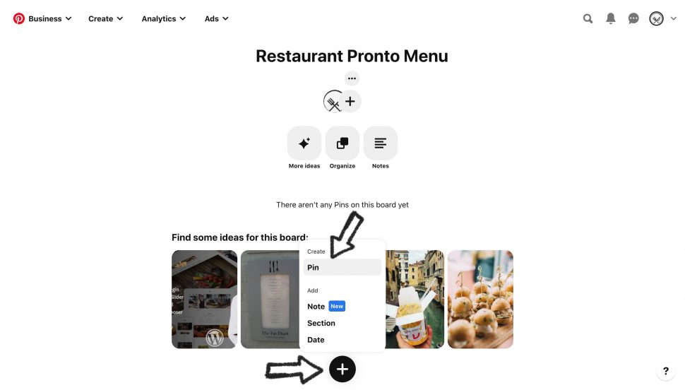 how to use pinterest for your restaurant