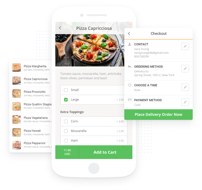restaurant app features: delivery