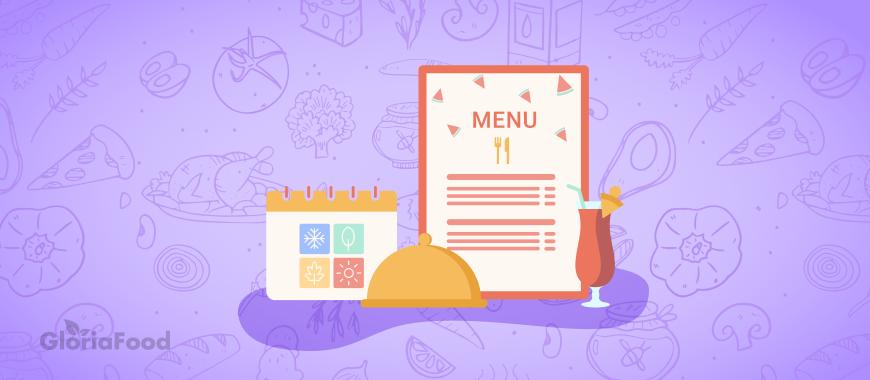 seasonal restaurant menu
